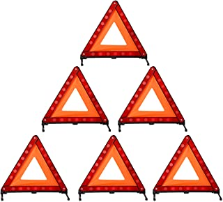 DEDC Warning Triangle Foldable Safety Triangle Triple Warning Kit Warning Triangle Reflector Roadside Hazard Sign Triangle...