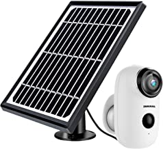 Solar Powered Wireless Indoor/Outdoor Camera, Rechargeable Battery Powered Home Security System, Night Vision, 1080P HD Vi...