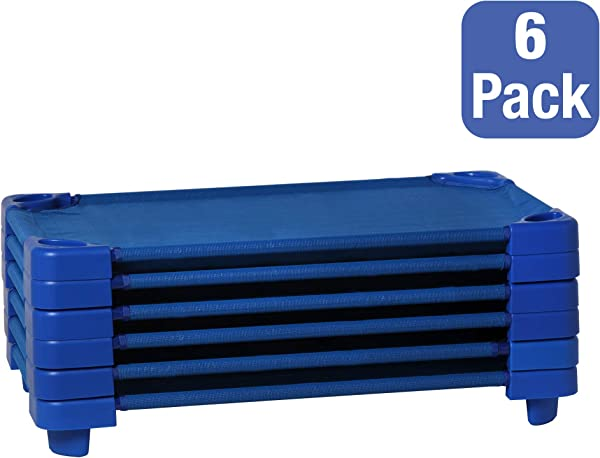 Sprogs Stackable Toddler Daycare Cot SPG 0232 5 Pack Of 6 40 L X 23 W X 5 H
