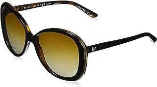 نظارة شمسية للنساء مربعة الشكل من رالف لورين - Rls8151Q-526071-55 -55-17-140 ملم، 140 ملم خضراء