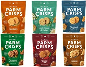 6 Count - ParmCrisps All 6 Flavors Variety Pack, 1.75 Ounce Bags, 100% Cheese Crisps, Keto Friendly, Gluten Free In KC Gourmet White Kraft Box