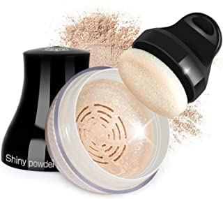 Proteove Loose Powder - Shimmery Loose Powder for Face and Body Highlighter Makeup, Handle Powder Puff Design, Lightweight & Glowing, Naturally Neutral