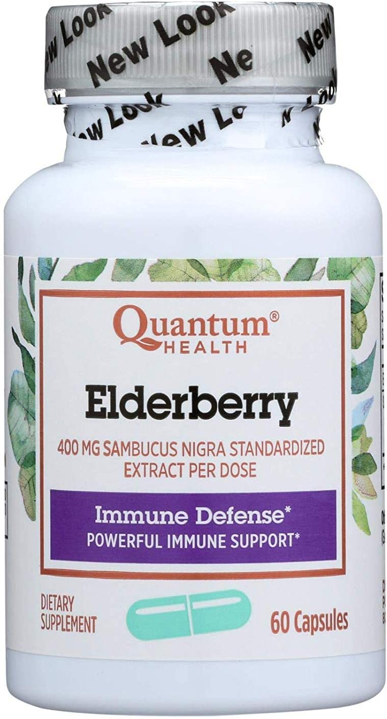 Quantum Elderberry Immune Defense Extract 400 - 2021 60 mg Capsules Outlet ☆ Free Shipping