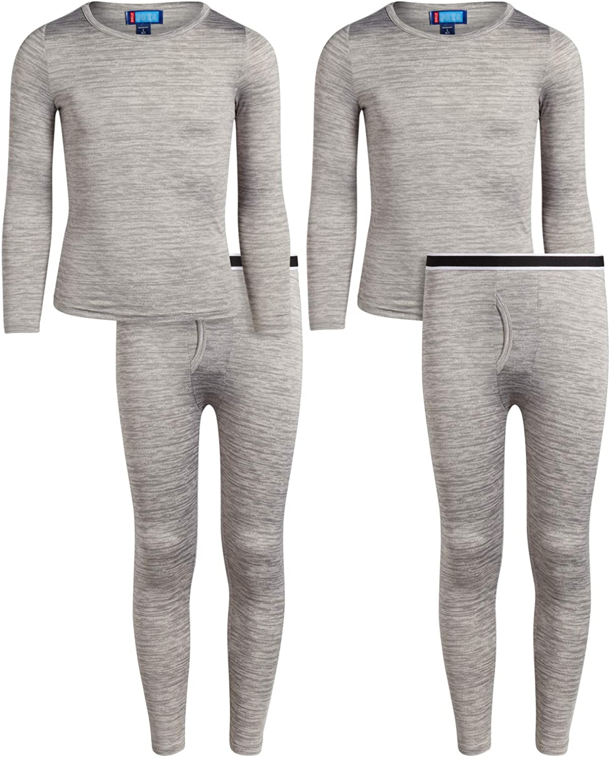 Only Boys Cozy Thermal Underwear Set –Lightweight Brushed Fleece Base Layer (2-Pack): Clothing