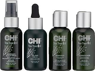 CHI Tea Tree Nurture & Shield Travel Kit with Tea Tree Shampoo, Conditioner, Scalp Spray and Serum