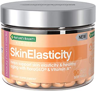 Nature's Bounty Skinelasticity Dietary Supplement with Vitamin A + Floraglo, Helps Support Skin Elasticity & Health Aging*, 90 Softgels