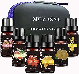 MUMAZYL 6Pack Essential Oils Sets Organic Olant & Natural 100% Pure Therapeutic Grade Oils with Mango,Watermenlon,Passion ...