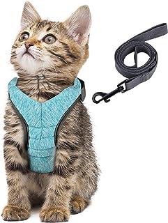 Simpeak Escape Proof Cat Harness and Lead Set, Adjustable Soft Cat Walking Jackets with Retractable Cat Leash for Pet Pupp...