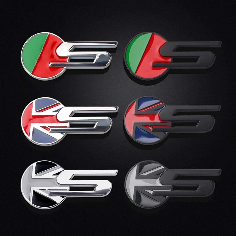 Oneriverspring40 Placa Creativo 3D Car Styling Metal Letra S Etiqueta engomada del Emblema de decoraci/ón for el S-Type XF XE F-Type F-Pace XJL X-Type Color Name : For Jaguar Black