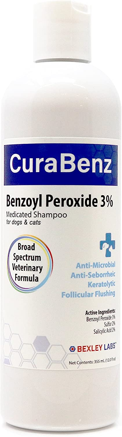 BEXLEY LABS Curaseb Benzoyl Raleigh Mall New mail order Peroxide Relieves Shampoo Dog –