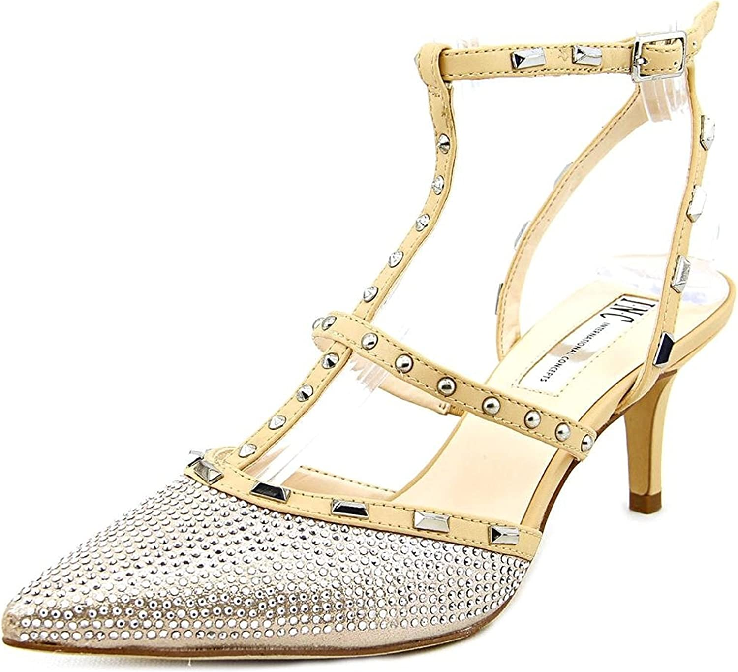 INC International Concepts Womens Carma2 Pointed Toe, Pearl gold, Size 6.0