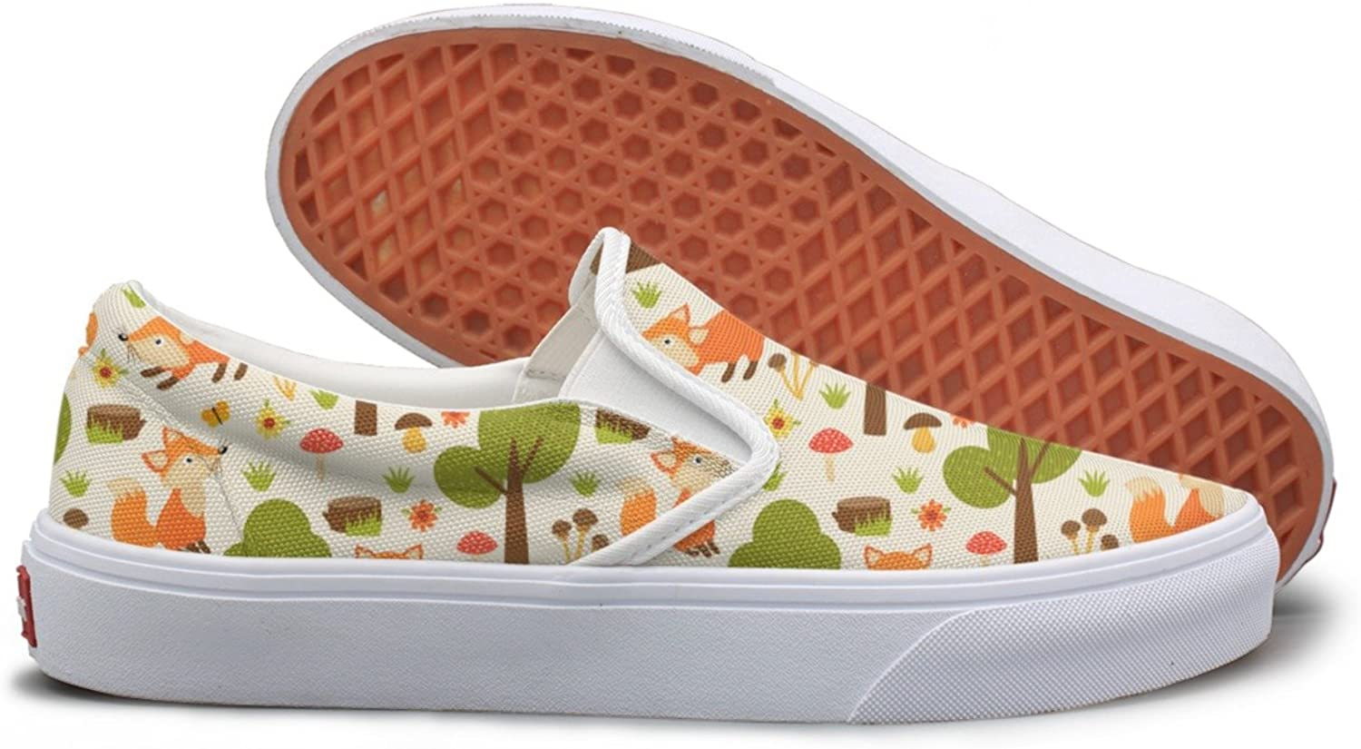 SEERTED Fox in Forest Canvas shoes Women Slip On