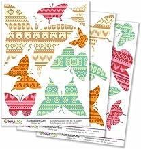 Kiwistar vlinders retro, 21 vlinders, oldschool totale oppervlakte, muurstickers set vel stickers gekleurd DIN A4 DIN A2To...