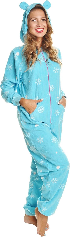 Angelina Women's & Kid's Fleece Novelty OnePiece Hooded Pajamas