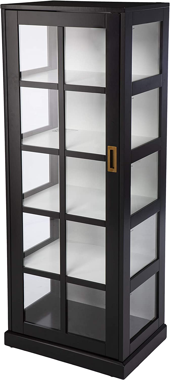 SEI Furniture Boston Mall Burland Cabinet Black Chicago Mall Curio
