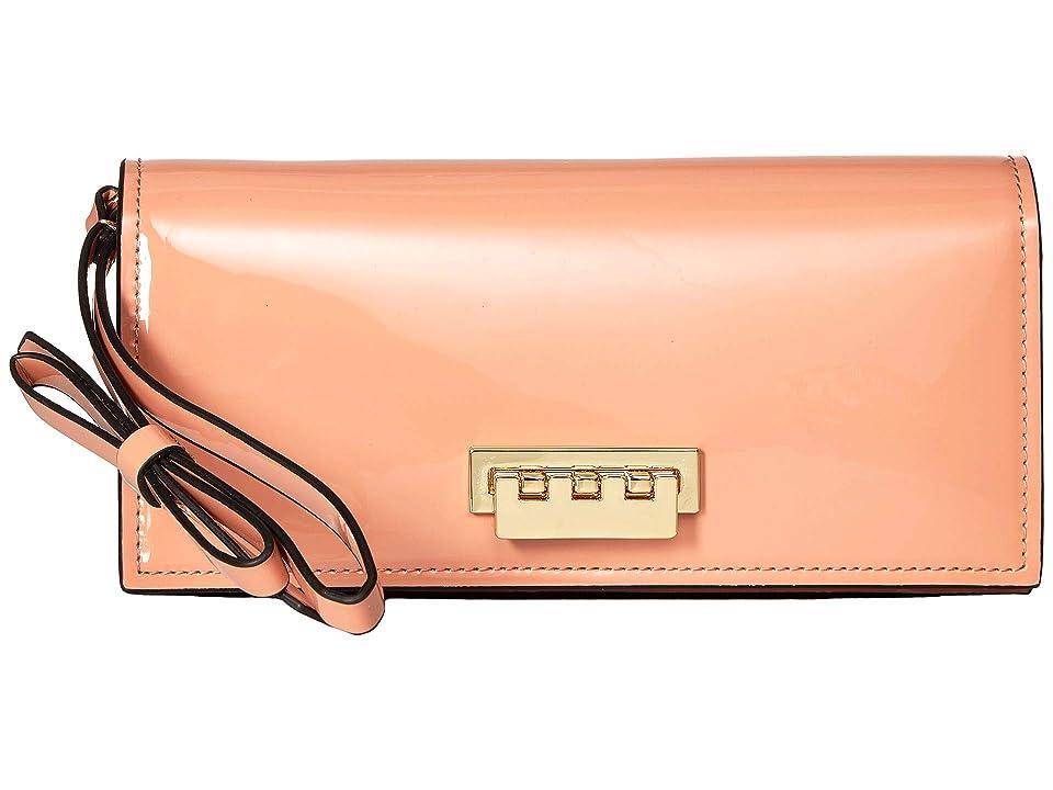 ZAC Zac Posen Earthette Wristlet Wallet (Rose Cloud) Wristlet Handbags