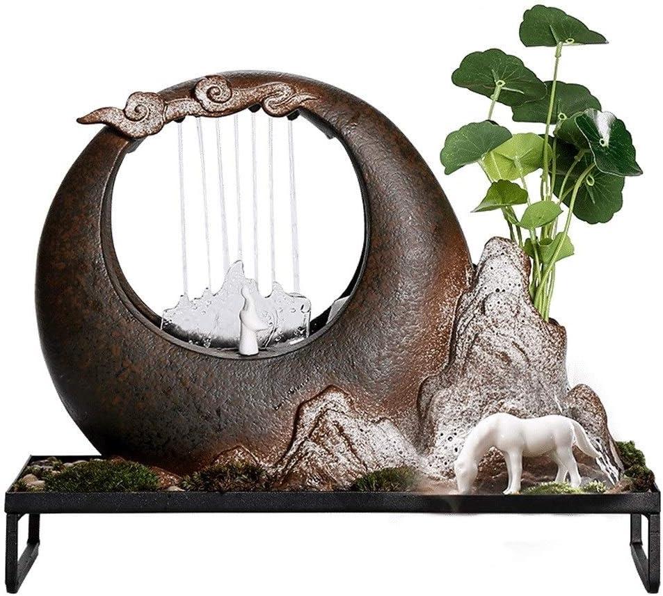 dxjsf Desk Décoration Indoor Desktop Raleigh Mall Ranking TOP14 Cerami Fountain Sand Purple