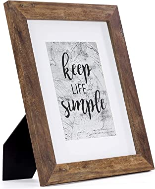 Home&Me 8x10 Picture Frame Rotten Brown 2 Pack - Made to Display Pictures 5x7 with Mat or 8x10 Without Mat - Wide Molding - W