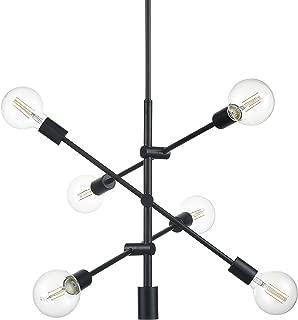 Marabella 6 Light Sputnik Chandeliers   Black Modern Hanging Light Fixture with LED Bulbs LL-P235-BLK