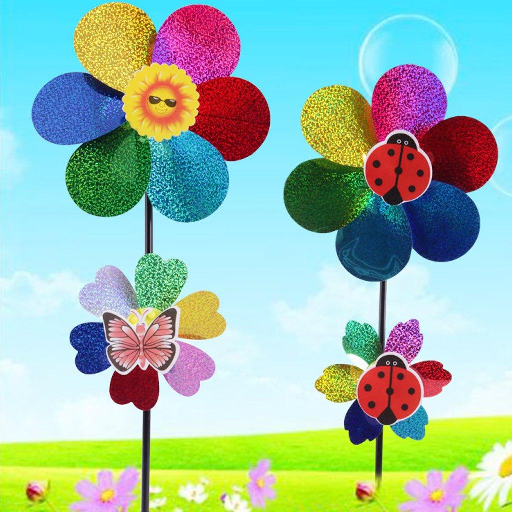 Cold Toy - Juego de 10 Lentejuelas de Colores, Molino de Viento, Spinner para jardín de casa, Patio, decoración, Juguete para niños: Amazon.es: Deportes y aire libre