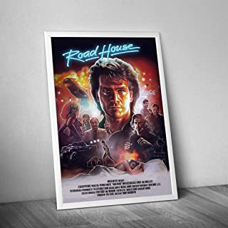 #Road #House The #Radical 80s Movie Gifts Men Women Roadhouse Patrick Swayze Poster Home Art Wall Art Posters Prints Livingroom Kitchen-Room No Frame (24x36)
