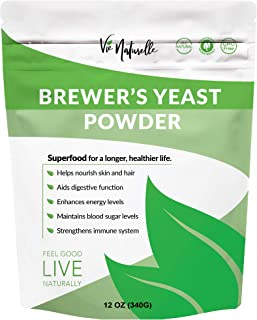 Brewers Yeast Powder Breastfeeding Supplement to Increase Mother's Milk - Key Nutritional Ingredient for Lactation Cookies - Plant Based, NON-GMO, Non Bitter, Vegan Friendly - 12 oz
