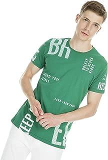 Breezy Baskılı Bisiklet Yaka T Shirt ERKEK T SHİRT 2019179