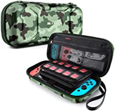 Mumba Carrying Case for Nintendo Switch, Deluxe Protective Travel Carry Case Pouch for Nintendo Switch Console & Accessories [Dual Protection] [Large Capacity] (Camouflage)