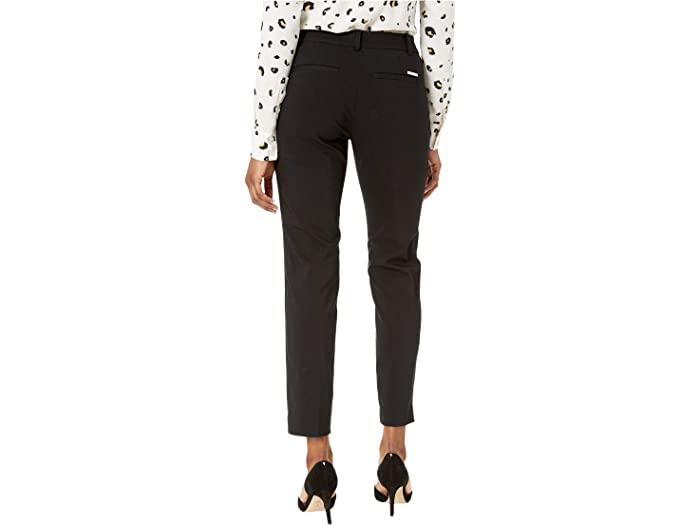 Michael Kors Petite Stretch Pantalones De Miranda Black Pants