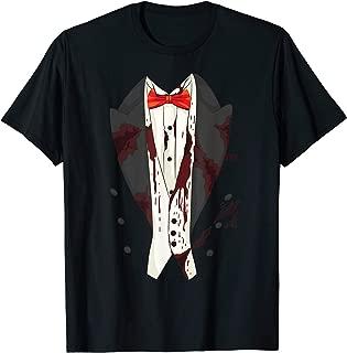 Cool Zombie Tuxedo Halloween Costume   Funny Lazy DIY Gift T-Shirt