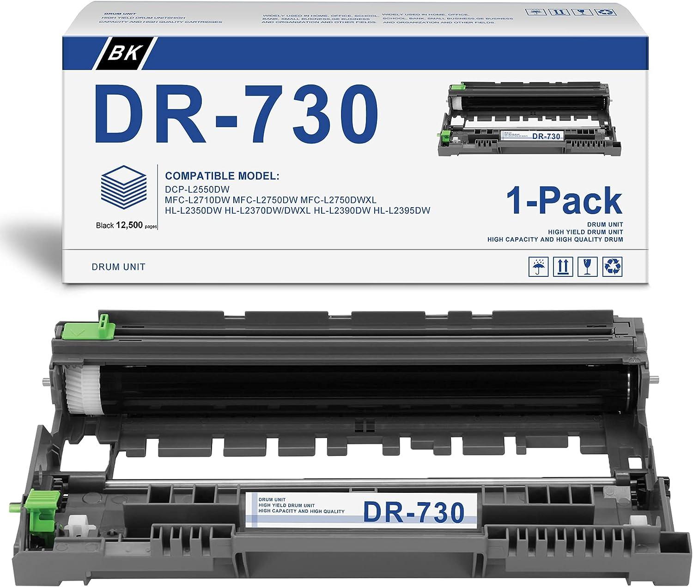 [Black,1-Pack] Compatible DR-730 Drum Unit Replacement for Brother DCP-L5500DN DCP-L5600DN DCP-L5650DN MFC-L6700DW MFC-L6750DW MFC-L5700DW MFC-L5800DW MFC-L5900DW Printer