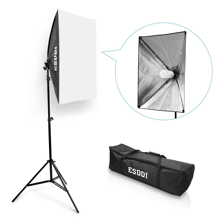ESDDI Softbox Kit Luz de Iluminacion Estudio Fotografia, con 1 Lampara Fotografia 85W, 1 Ventana de Luz 50x70cm, 1 Tripodes, 1 Bolsa de Transporte: Amazon.es: Electrónica