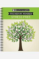 Brain Games Sticker by Number Stress Free Spiral-bound