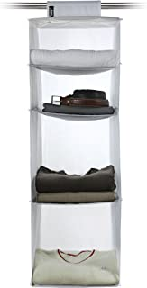 Domopak Living Rangement 4 Compartiments, Polyester, Blanc, 33 x 33 x 103 cm