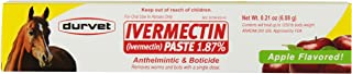 Durvet Ivermectin Dewormer Paste for Horses, 6 Doses, 0.21 oz