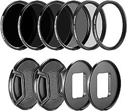 Neewer Camera Lens Filter Kit for GoPro Hero 5/6/7: (4)Neutral Density ND Filter(ND4/ND8/ND16/ND32), (1)UV Filter, (1)CPL Filter, (2)Lens Cap, (2)Lens Adapter Ring