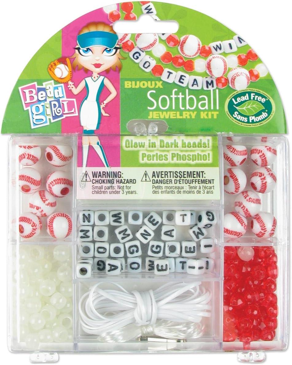 Cousin Bead Girl Kits-Softball Philadelphia Mall Oakland Mall Sports Jewelry