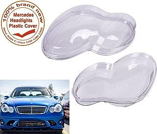 E-Most 2 Pcs Headlight Lens Plastic Shell Cover For Mercedes Benz W203 C-Class C230 C280 C350 2001-2007_ 4-Door
