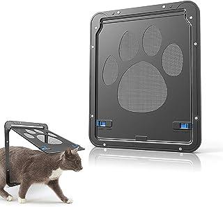 Mumoo Bear Pet Door - Sliding Screen Dog Door with Magnetic Flap, Size S