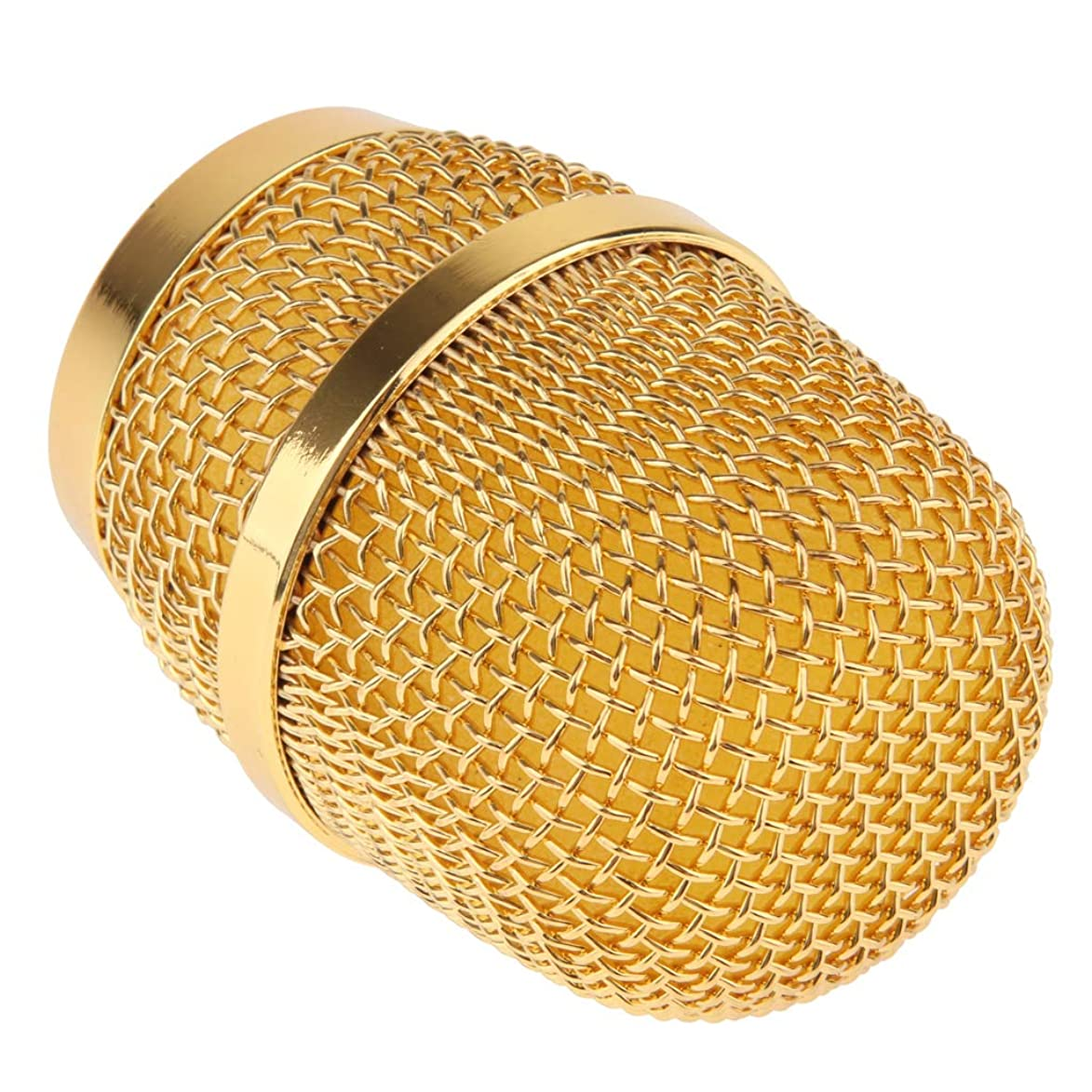 CUTICATE Replacement Steel Mesh Microphone Grill Head for Wireless Mics and Wired Mics - Gold, as described