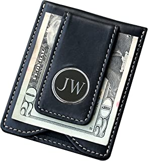 Engraved Personalized Christmas, Valentines, Fathers Day Gifts for Men Him - Husband - Black Money Clip Wallet Combo