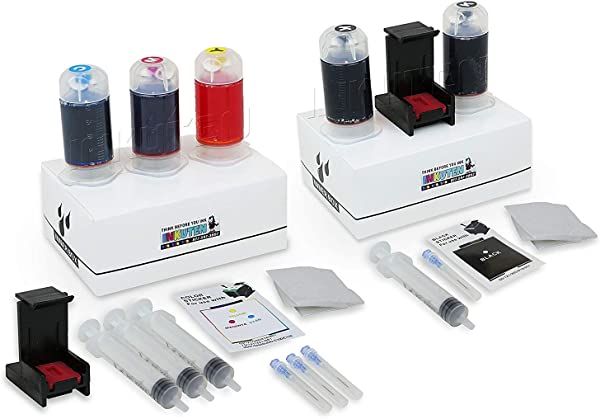 INKUTEN Refill Kit Combo Pack For HP 64 64XL HP Envy Photo 6252 6255 6258 7155 7158 7164 7855 7858 7864 Envy 5542