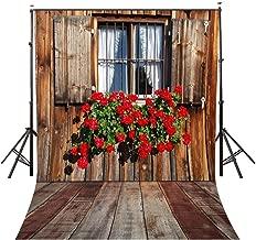 LYLYCTY 5X7ft Rural Style Backdrop Retro Flowers Window Background Window Photography Photo Studio LYGE291