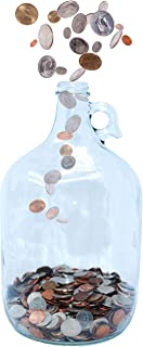 Skywin Swear Jar - Large Glass Money Jar and Adult Piggy Bank for Storing Coin & Change