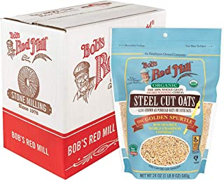Bob's Red Mill (Resealable) Organic Steel Cut Oats, 24-ounce (Pack of 4)