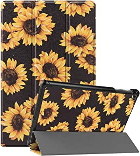 """Case for Samsung Galaxy Tab SE5 10.5"""" 2019 SM-T720/T725, Ultra Slim Light Weight Stand Hard Cover(Sunflower)"""