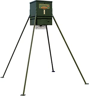 Texas Hunter Wildlife & Deer Feeder w/ 8-Foot Heavy-Duty Extension Legs - 300 lb. Corn Capacity - Model TF300L8