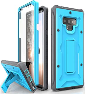 ArmadilloTek Vanguard Designed for Samsung Galaxy Note 9 Case (2018 Release) Military Grade Full-Body Rugged with Built-in Screen Protector & Kickstand (Blue)