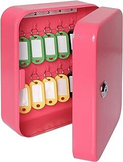 """Parrency Security Boîte à clés en métal avec 48 crochets, grande armoire à clés réglable pour montage mural 11 4/5"""" x 9 1/..."""