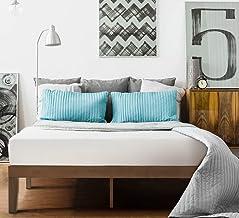 Zinus Blake 35cm Timber Double Size Bed Frame Bed Base Mattress Support Foundation - Wood Slats Wooden - Walnut